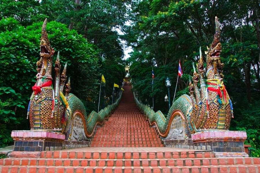 Doi Suthep Chiang Mai Thailand Stairs