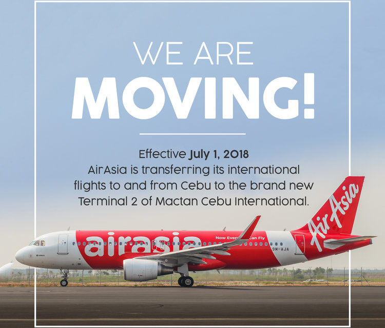 AirAsia Moves to New Mactan Cebu International Airport!
