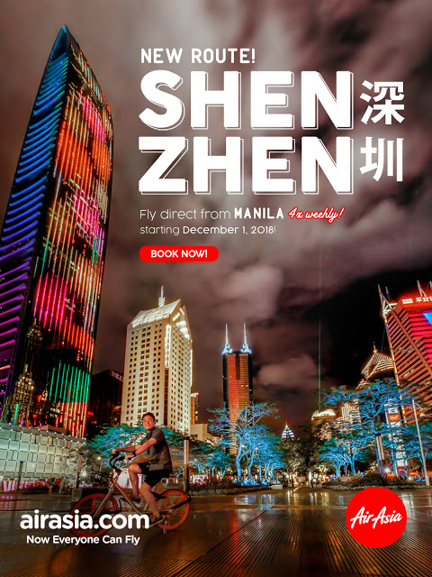 AirAsia Enhances Connectivity to China with the new Manila – Shenzhen Route!