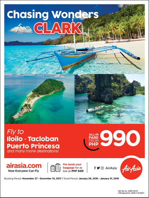 Fly to Palawan, Leyte and Iloilo via AirAsia Next Year for Only Php990!