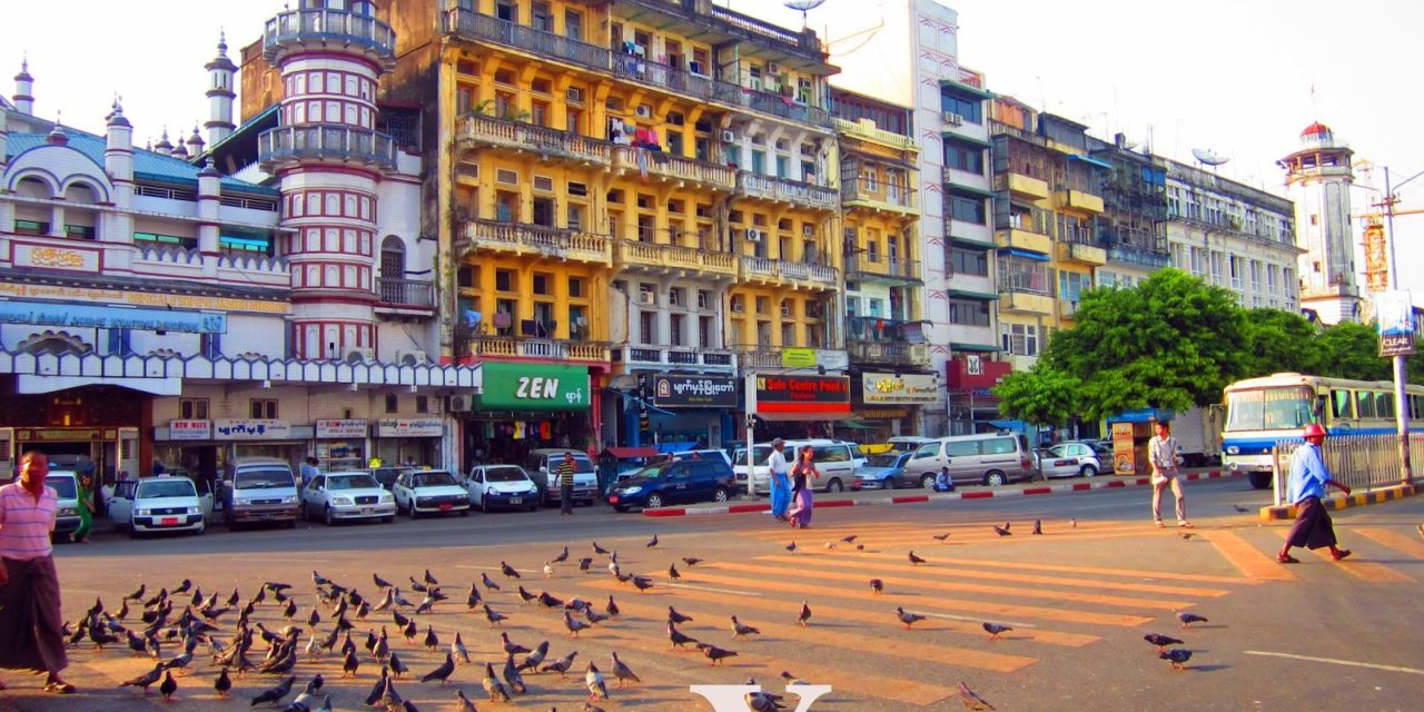 Old Buildings, Old Books and the Antique Pocket Watch in the Streets of Yangon